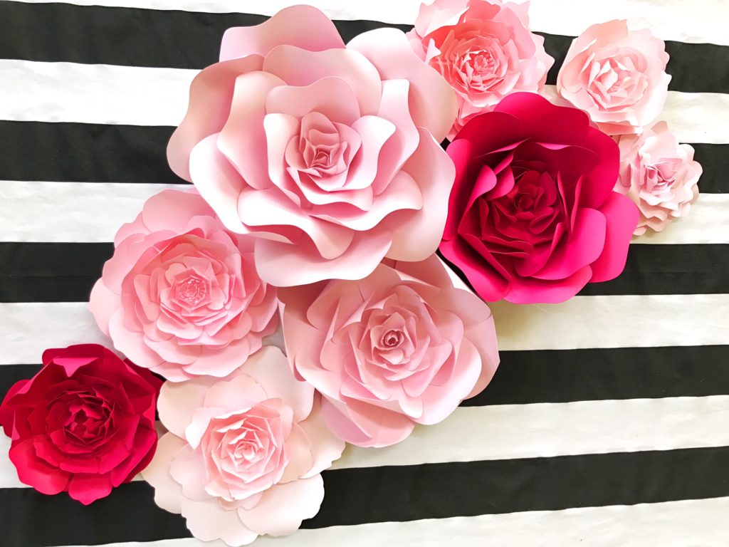 Kate Spade inspired paper flower wall decor, for baby nursery, wall art, pink wedding shower, baby shower decor