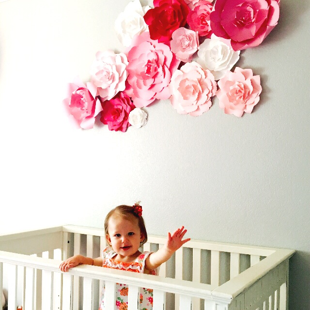 Paper Flower Decor For Nursery: Large Paper Flowers, DIY Templates And Ready To Ship