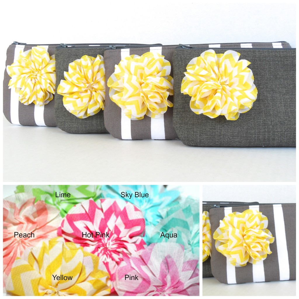 Gray and Yellow wedding clutches