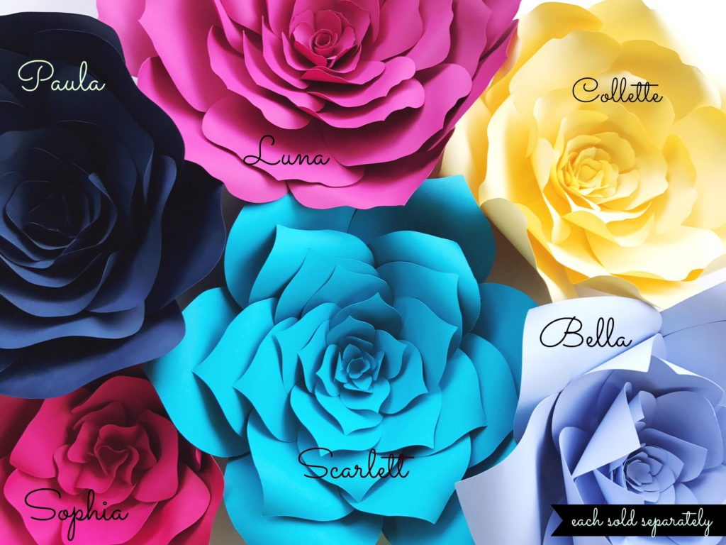 Large Paper Flowers Diy Templates And Ready To Ship Paperflora