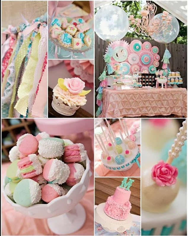 pastel reception party