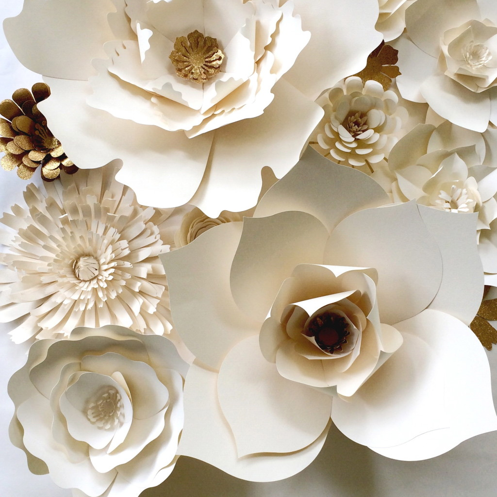 Ivory Paper Flowers by PaperFlora