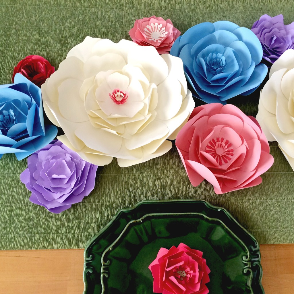 Large Paper Flower Wall And Table Decor Bridal Shower Decor