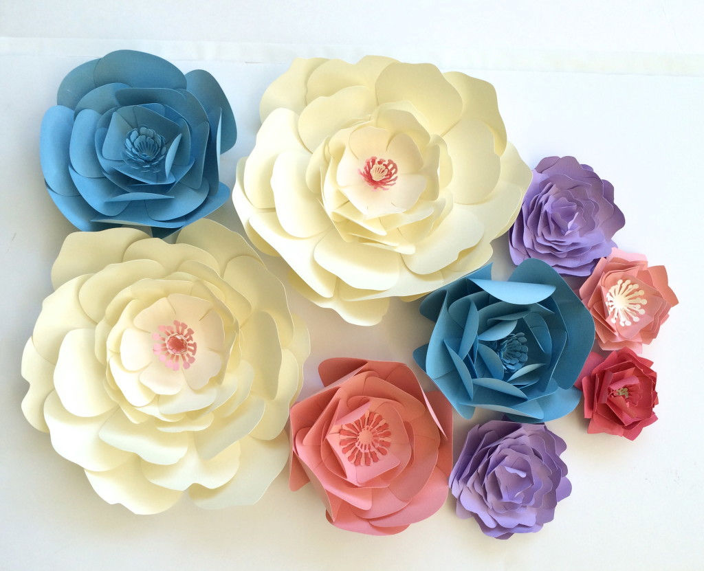 Enchanting Paper Flower Decoration On Wall Image - The Wall Art ...
