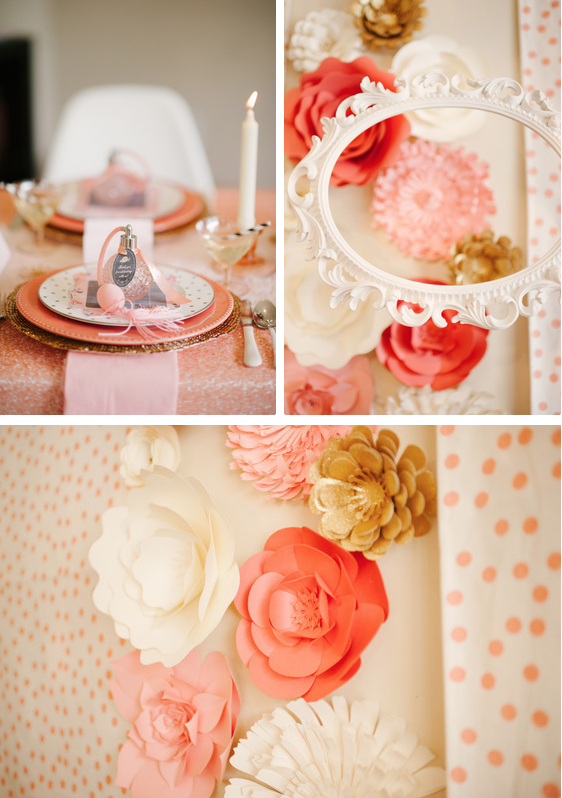 Coral paper flowers by PaperFlora