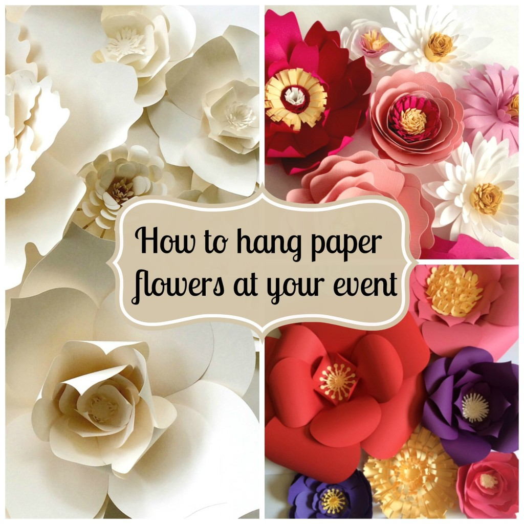 tips on hanging a paper flower wall
