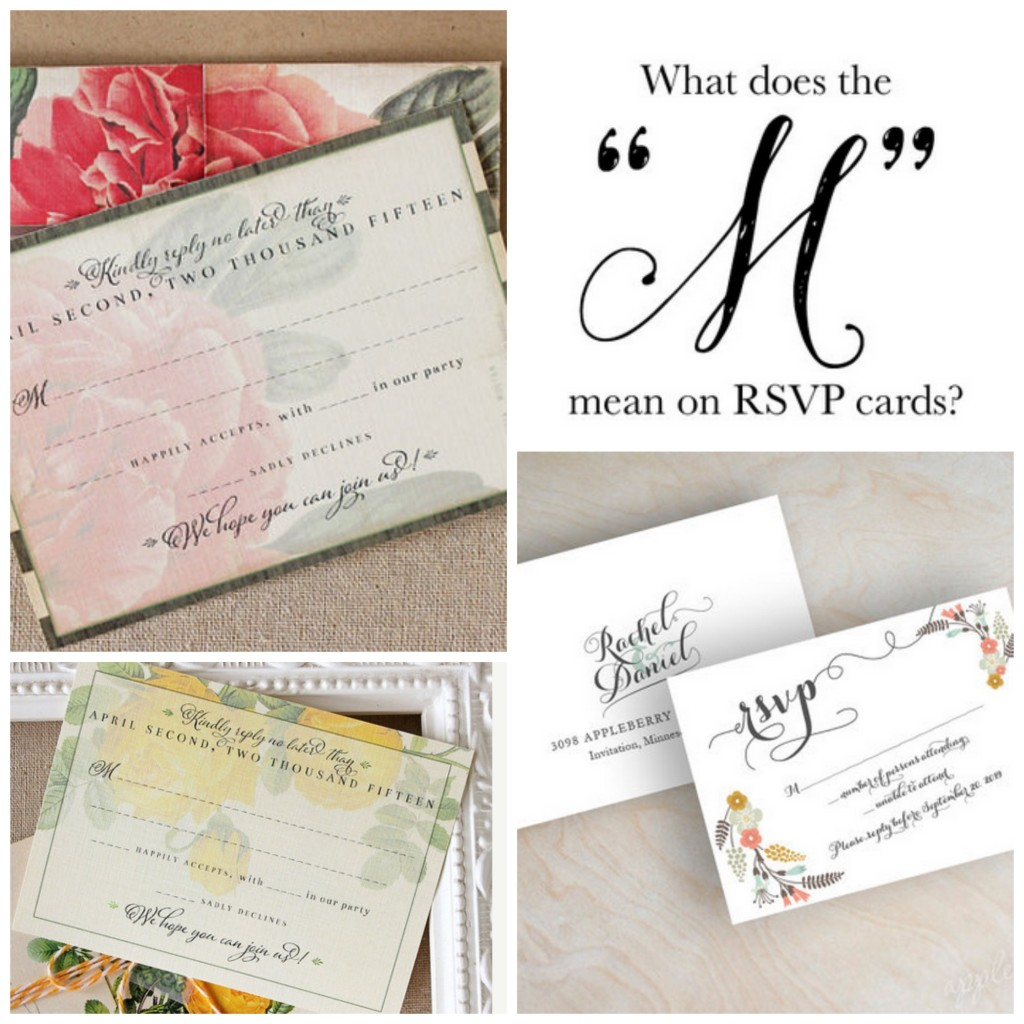"Do You Know What The €�m"" On An Rsvp Card Means: Wedding Response Cards Filled In At Websimilar.org"