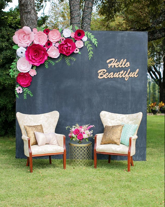 Paperflora paper flower walls backdrops and home decor paper flower backdrop by paperflora pink paper flowers for weddings events or home decor junglespirit Gallery