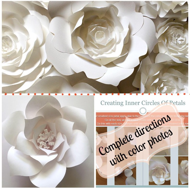 Diy large paper flower template paperflora diy paper flower template mightylinksfo Images