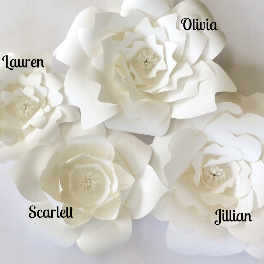 Paper Flower Templates DIY