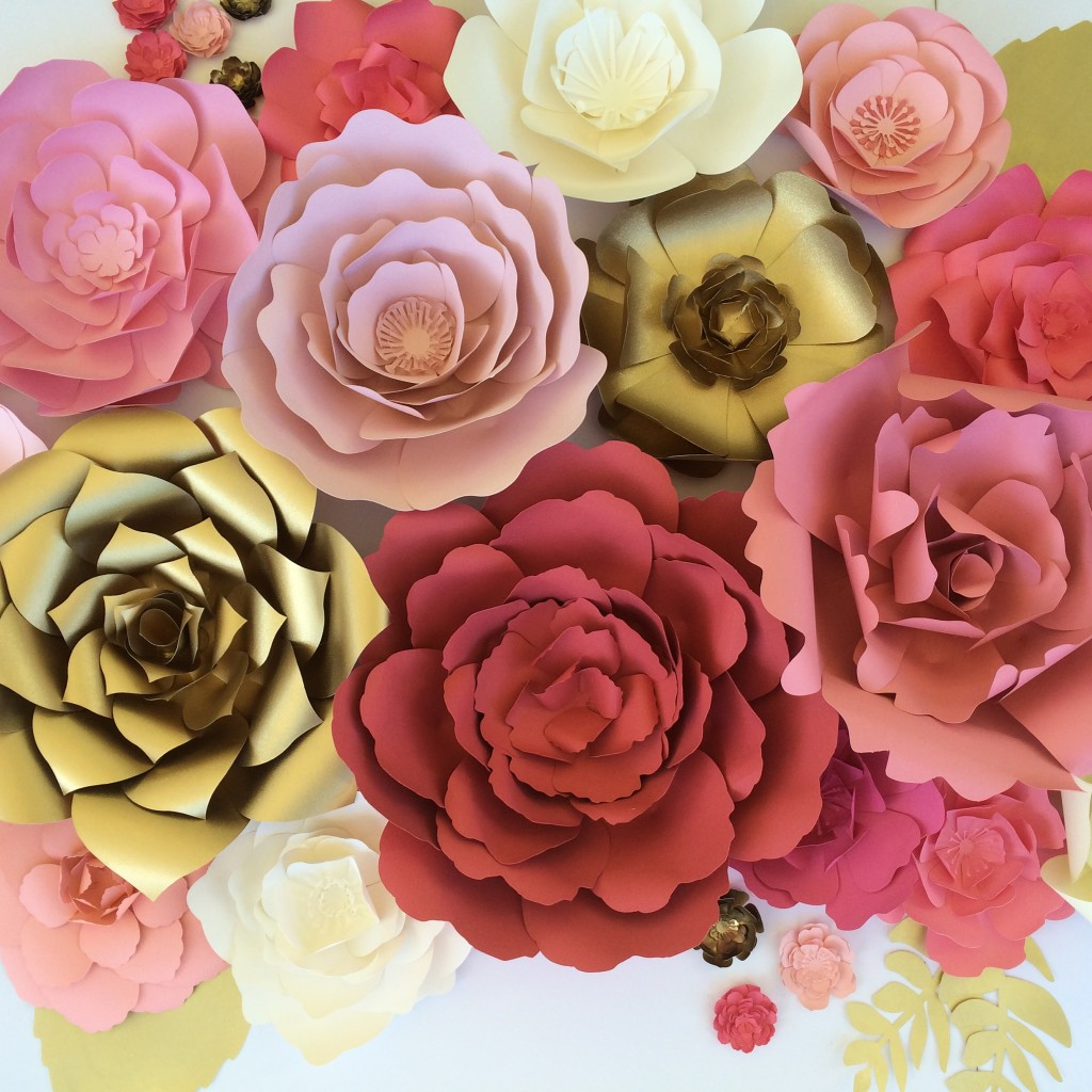paper flower wall for weddings and events