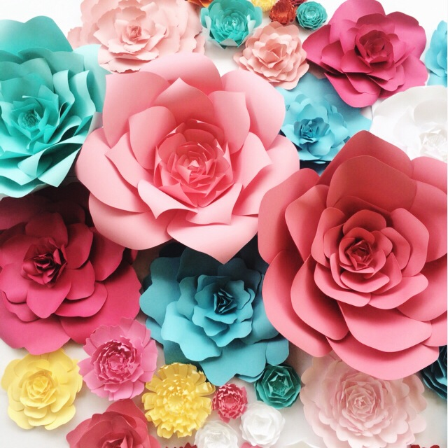 Custom color special order paper flowers for weddings and events large paper flowers by paperflora mightylinksfo