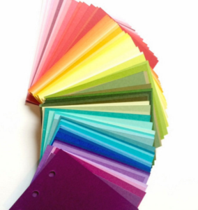 paper color selection