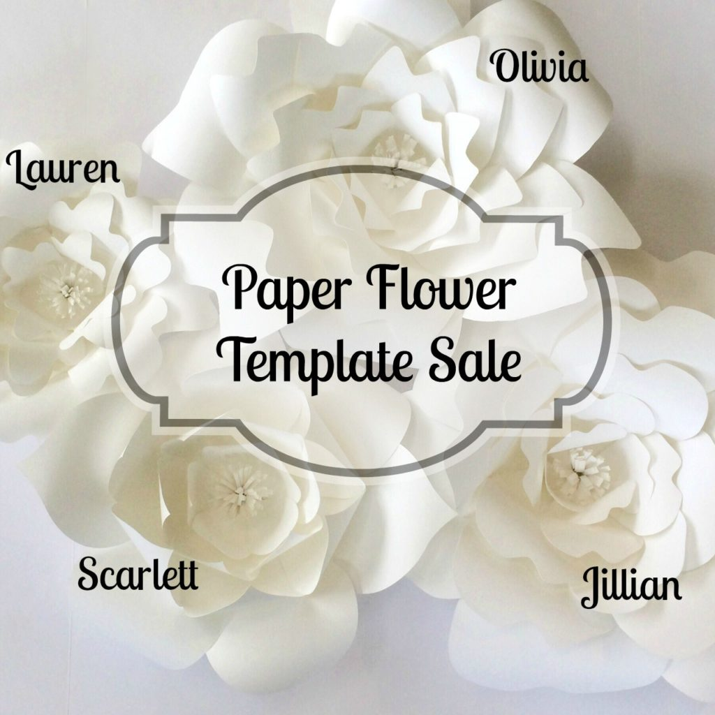 Paper Flower Template Sale Paperflora