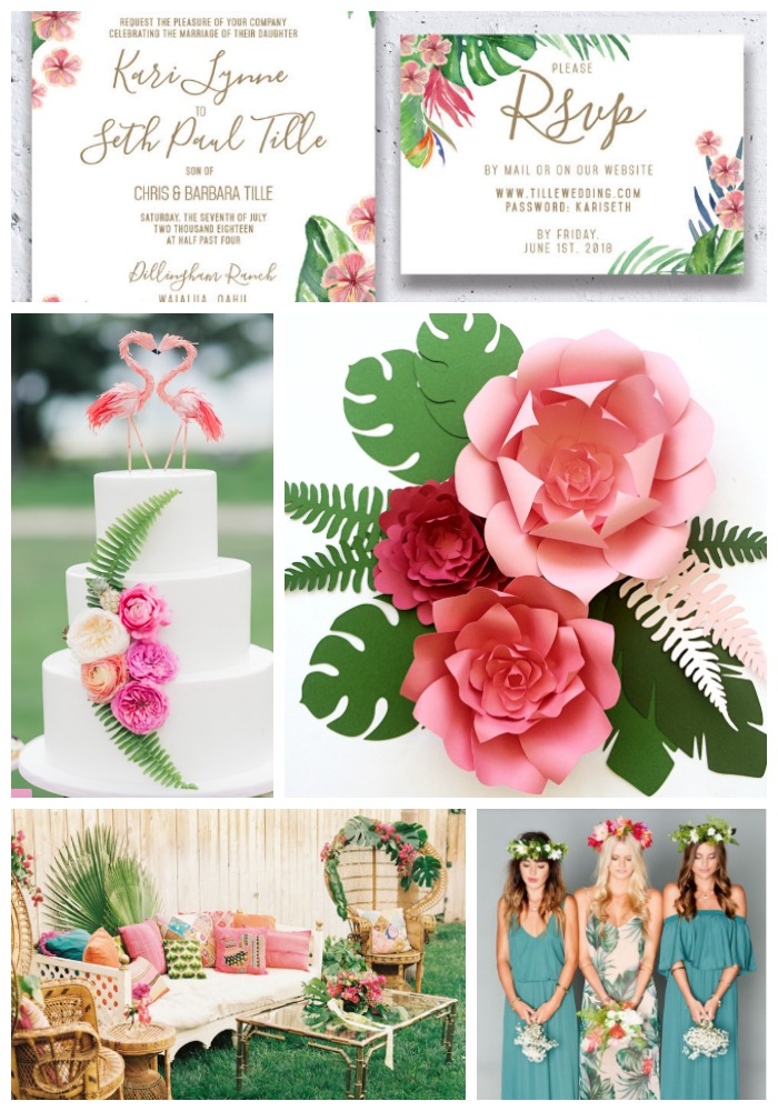 Tropical party, wedding, event