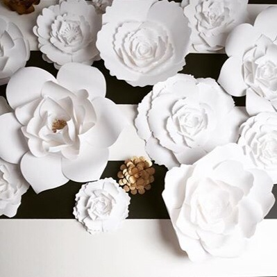 Large paper flowers for weddingsevents and home decor paperflora large paper flower wall by paperflora mightylinksfo