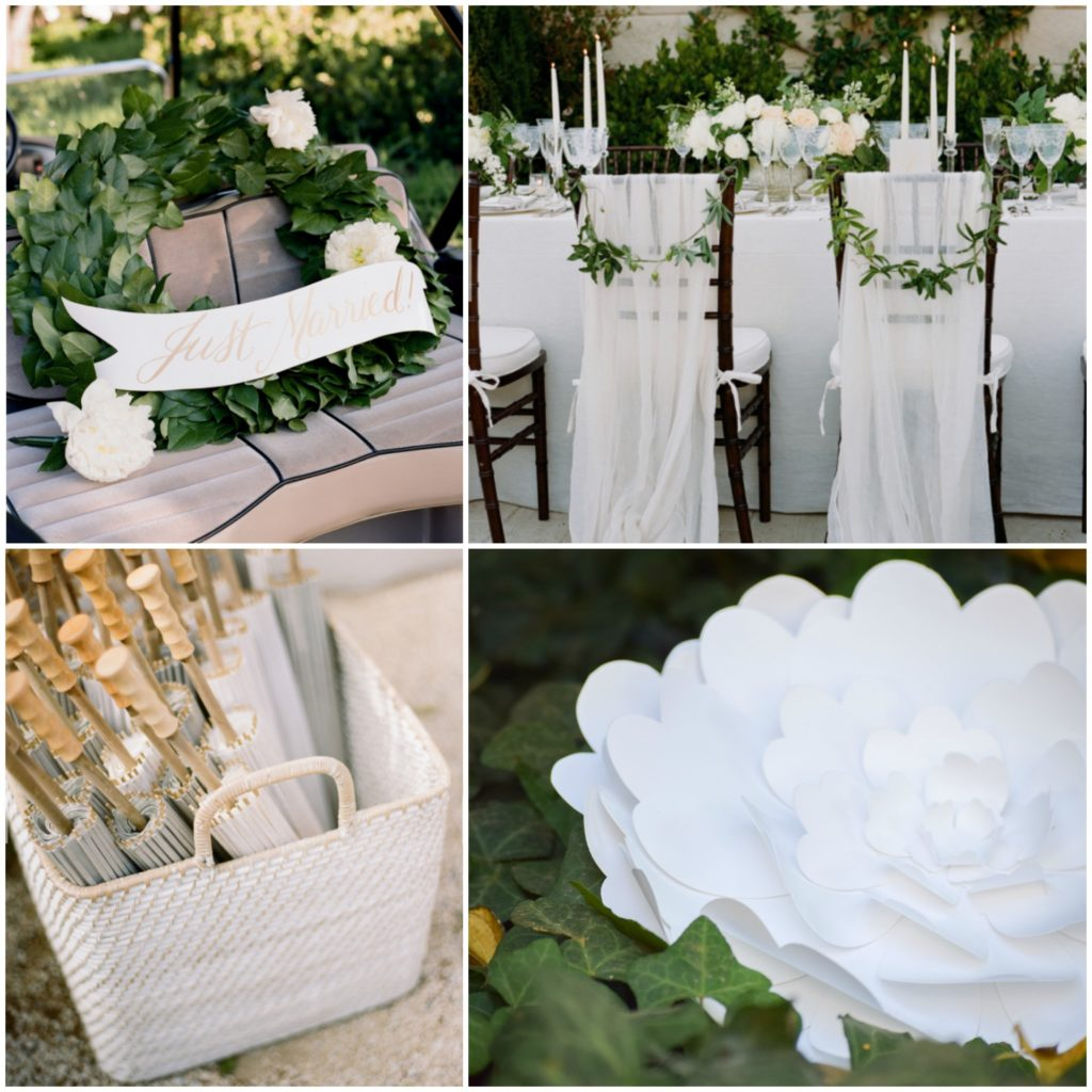 green-and-white-wedding-paper-flowers
