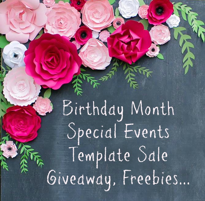 Paper Flower giveaway and template sale