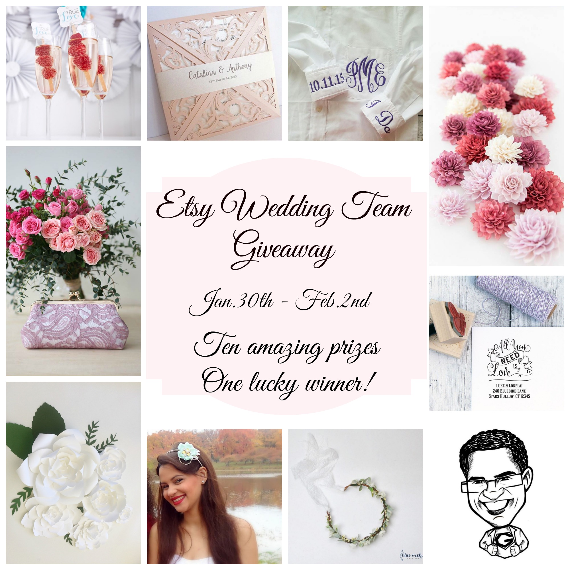 Etsy Wedding Team Giveaway Jan.30-Feb.2nd
