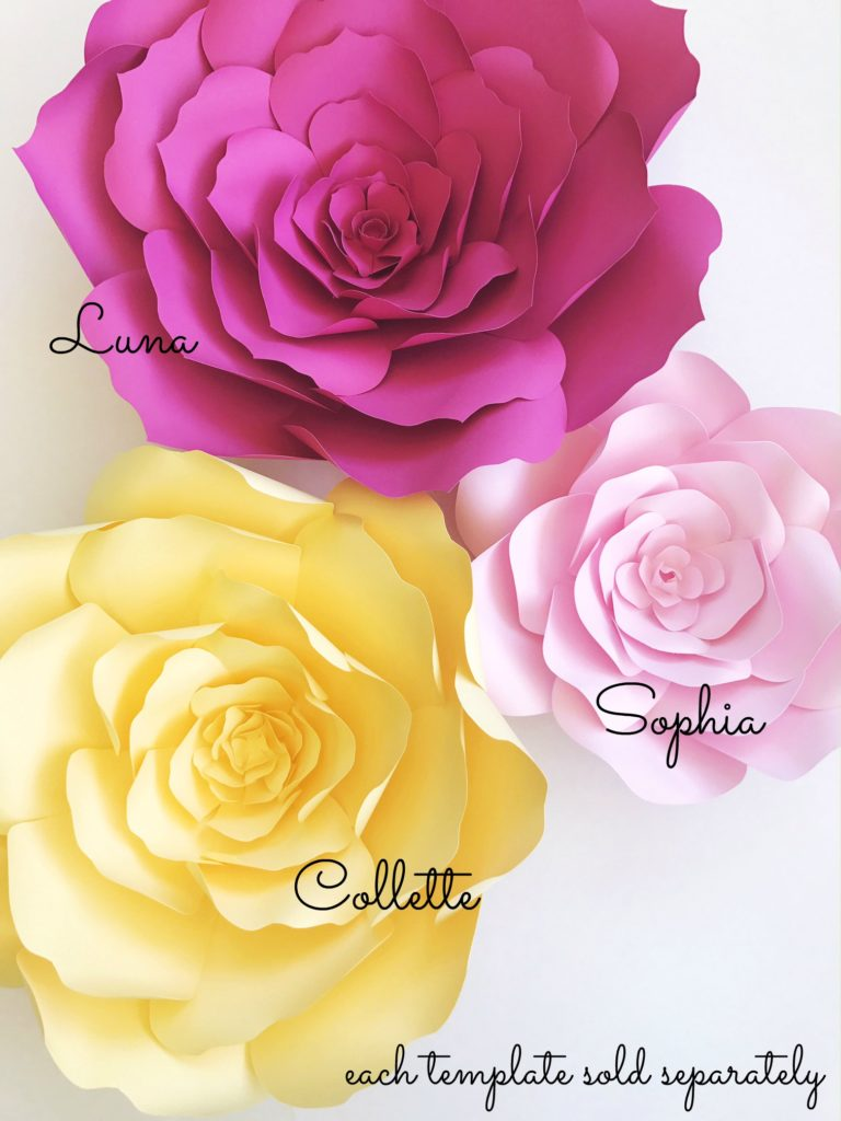 SVG Paper Flower Templates | PaperFlora