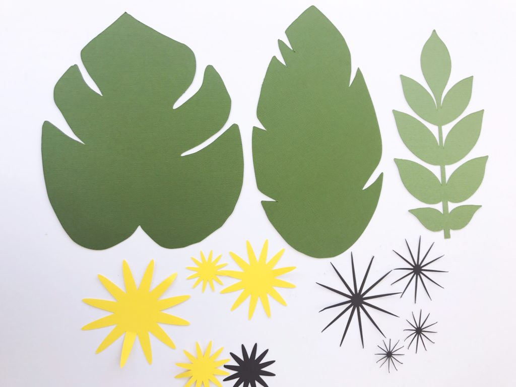 Tropical Leaf Template And New Centers Paperflora