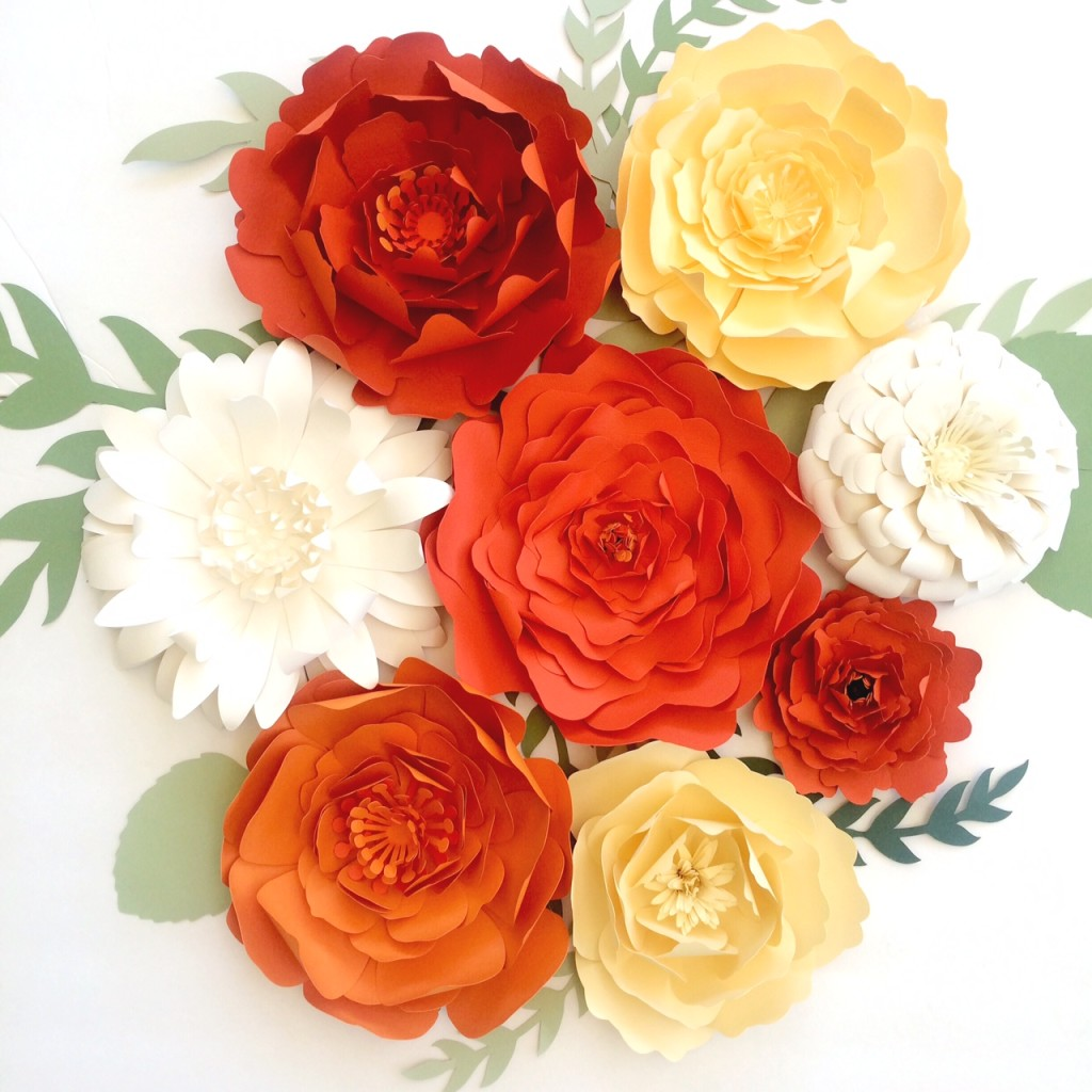 Wonderful Large paper flower wall decor, backdrops for events or home decor  CE74